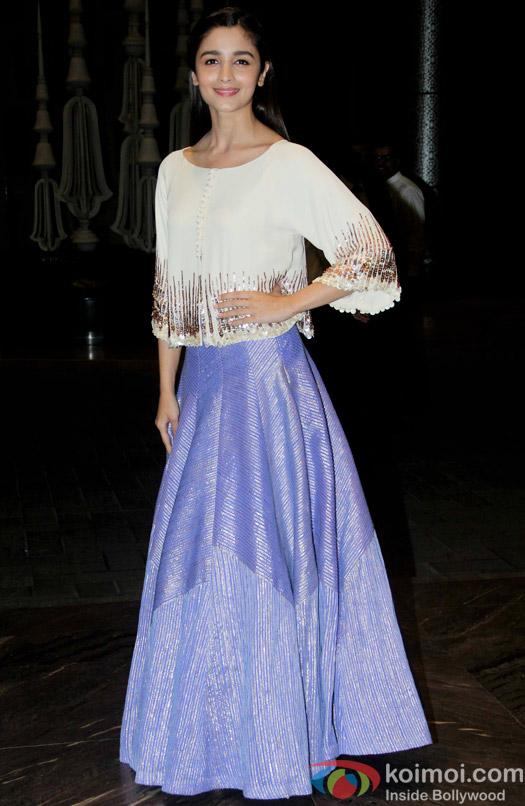 Alia Bhatt at the Shahid Kapoor-Mira Rajput's Wedding Reception in Mumbai