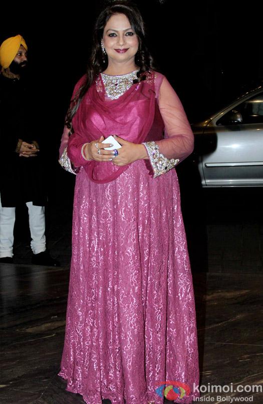 Neelima Azeem at the Shahid Kapoor-Mira Rajput's Wedding Reception in Mumbai