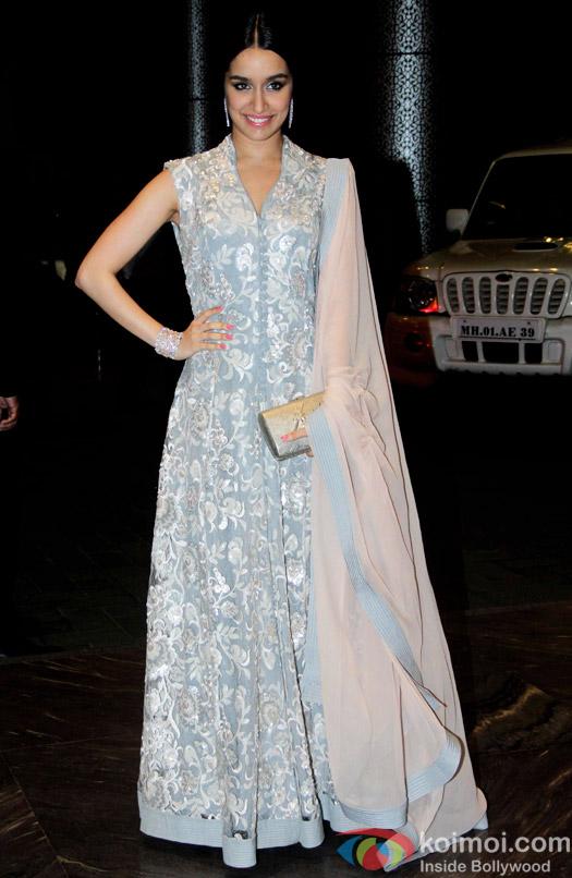 Shraddha Kapoor at the Shahid Kapoor-Mira Rajput's Wedding Reception in Mumbai