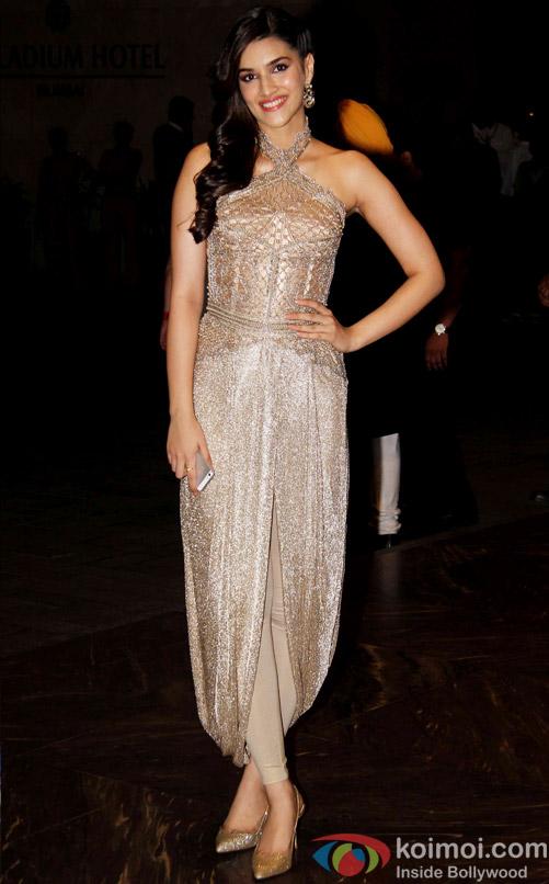 Kriti Sanon at the Shahid Kapoor-Mira Rajput's Wedding Reception in Mumbai