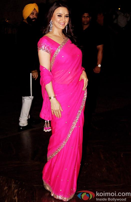 Preity Zinta at Shahid Kapoor's Wedding Reception In Mumbai