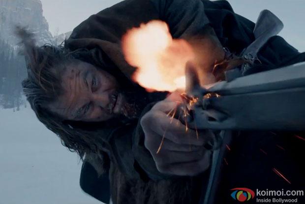 Leonardo DiCaprio in a still from movie 'The Evenant'