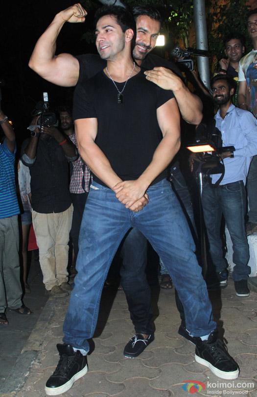 John Abraham and Varun Dhawan during the 'ABCD 2' Success Bash
