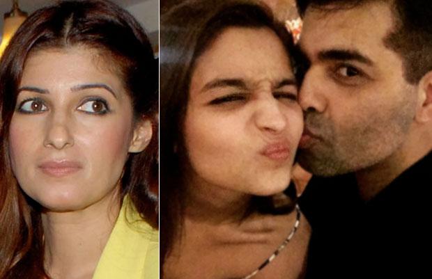 Twinkle Khanna, Alia Bhatt and Karan Johar