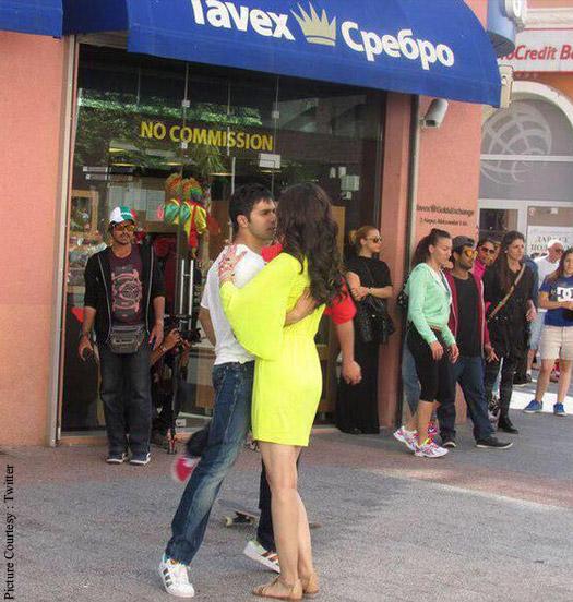 Varun Dhawan and Kriti Sanon shoot for a 'Dilwale' love song in Bulgaria