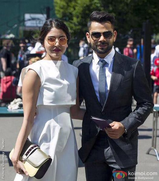 Anushka Sharma and Virat Kohli snapped at Wimbeldon