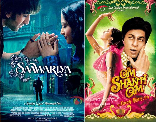 Saawariya and Om Shanti Om movie posters
