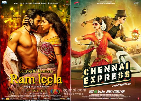 Ram Leela and Chennai Express movie posters