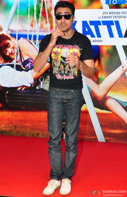 Imran Khan during the promotion of movie 'Katti Batti' at MMK College
