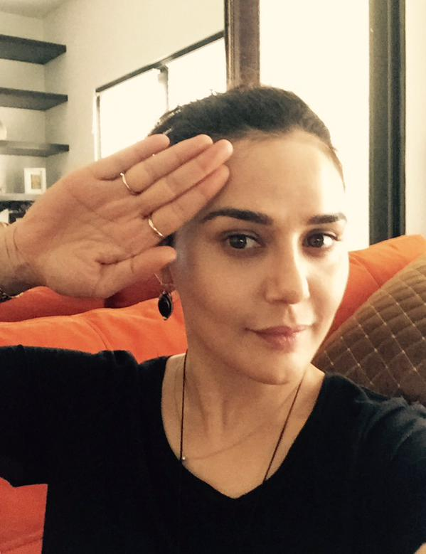 Preity Zinta's Salute Selfie
