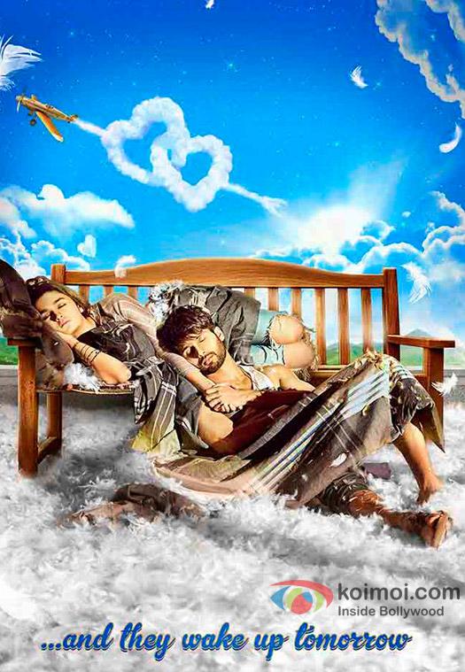 Alia Bhatt and Shahid Kapoor in a still from 'Shaandaar' movie poster
