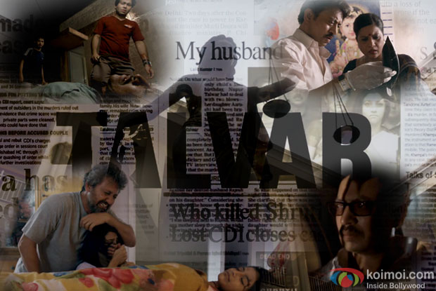 Neeraj Kabi, Konkona Sen Sharma and Irrfan Khan in a still from movie 'Talvar'