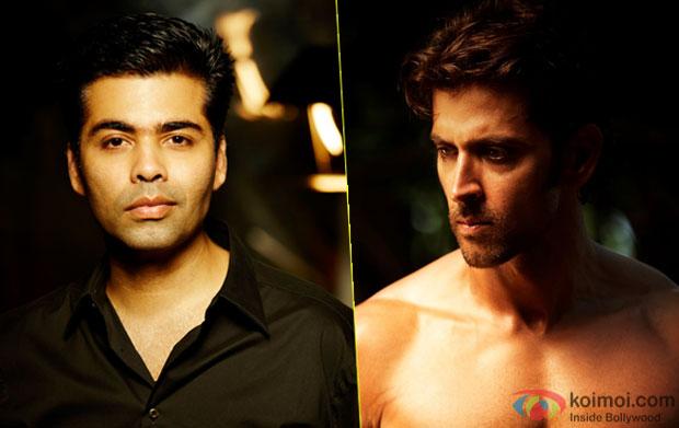 Karan Johar and Hrithik Roshan