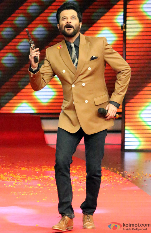 Anil Kapoor during the promotion of movie 'Welcome Back' on the sets of 'Dance Plus'