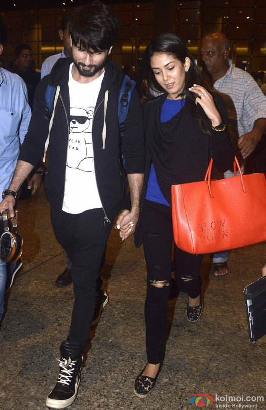 Shahid Kapoor Spotted With Wife Mira Rajput At International Airport Mumbai