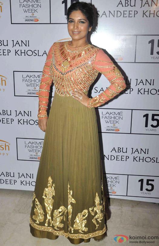 Bhumi Pednekar At Abu Jani Sandeep Khosla's Lakme Fashion Week Winter/ Festive 2015 Event