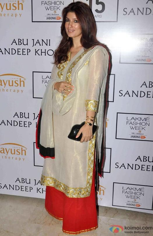 Twinkle Khanna At Abu Jani Sandeep Khosla's Lakme Fashion Week Winter/ Festive 2015 Event