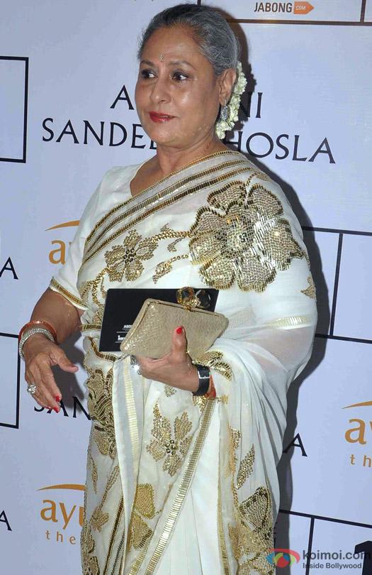 Jaya Bachchan At Abu Jani Sandeep Khosla's Lakme Fashion Week Winter/ Festive 2015 Event