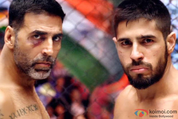 Akshay Kumar and Sidharth Malhotra in a still from movie 'Brothers'