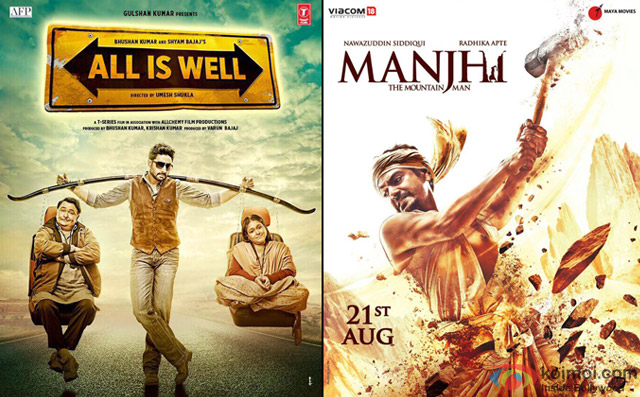 All Is Well and Manjhi-The Mountain Man Movie Poster