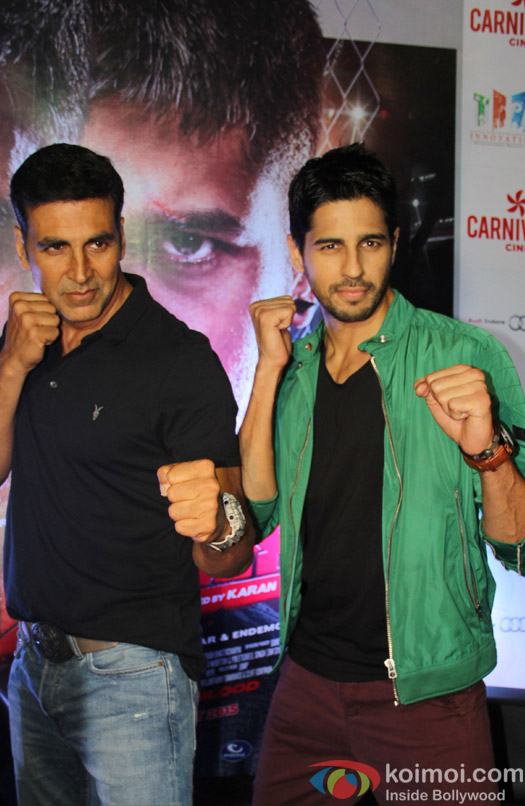 Akshay Kumar and Sidharth Malhotra During Movie Promotion.