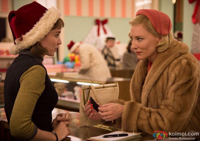 Cate Blanchett and Rooney Mara in a still from movie 'Carol'