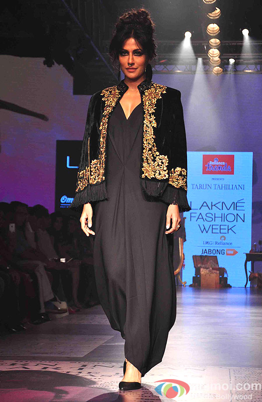 Chitrangada Singh walks the ramp during the Lakme Fashion Week Winter/Festive 2015