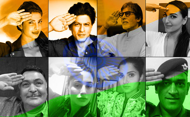 Celebrities galore have lent support to '#Saluteselfie', a neutral social media campaign by the Reliance Group on the occasion of India's 69th Independence Day