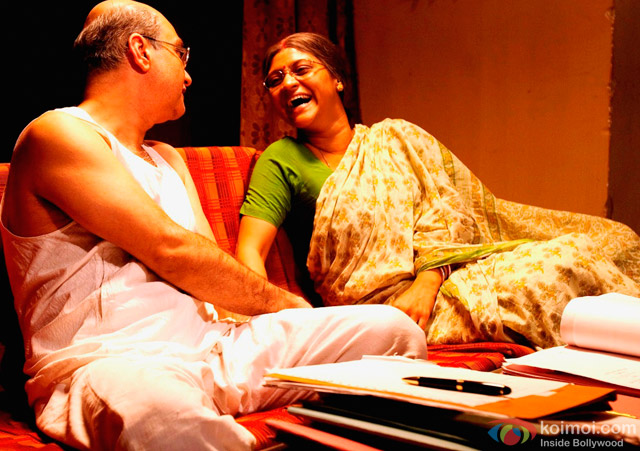 Vinay Pathak and Konkona Sen Sharma in 'Gour Hari Dastaan - The Freedom File' Movie Stills Pic 1