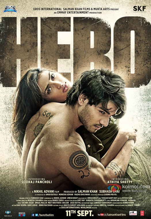 Sooraj Pancholi and Athiya Shetty starrer 'Hero' Movie Poster 2