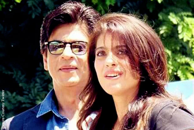 Shah Rukh Khan and Kajol on the sets of 'Dilwale'