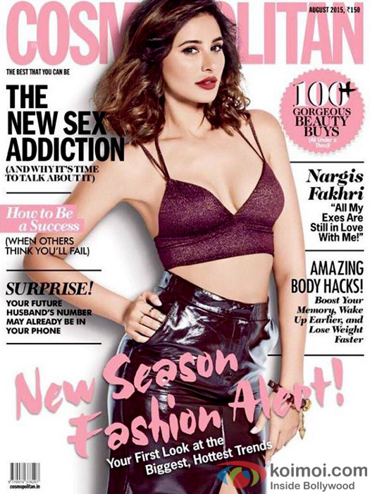 Nargis Fakhri On The Cover Page Of Cosmopolitan