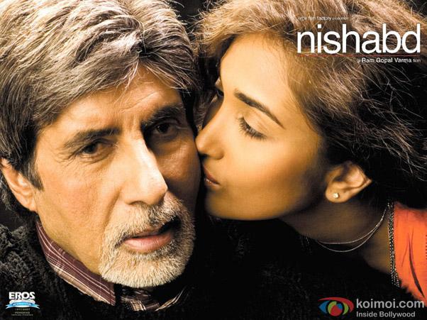Amitabh Bachchan and Jiah Khan in a still from movie 'Nishabd'