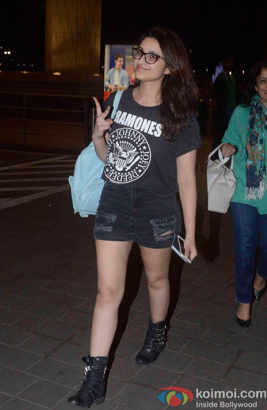 Parineeti Chopra Spotted at International Airport
