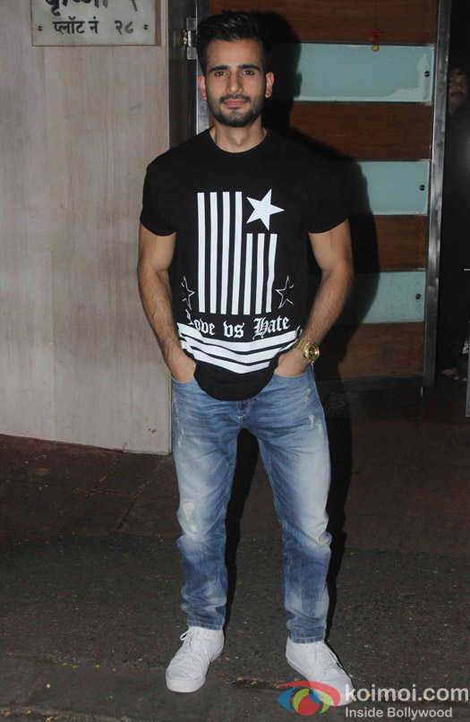 Karan Tacker during the Ekta Kapoor's party