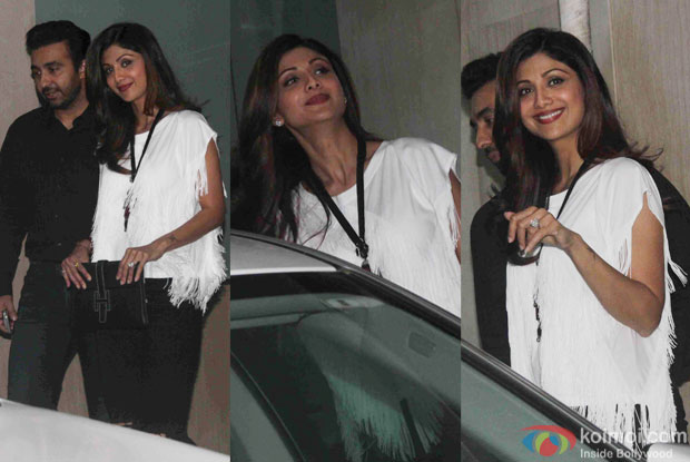 Raj Kundra and Shilpa Shetty during the Ekta Kapoor's party