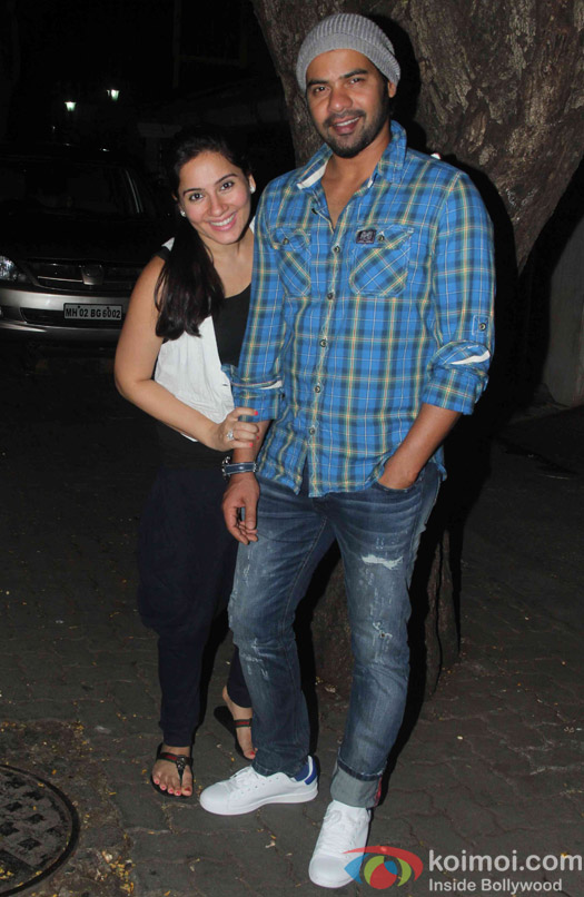 Kanchi Kaul and Shabbir Ahluwalia during the Ekta Kapoor's party