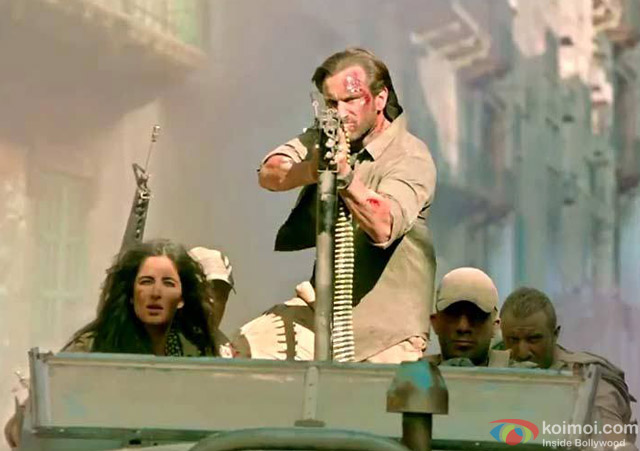 Katrina Kaif and Saif Ali Khan in a still from movie 'Phantom'