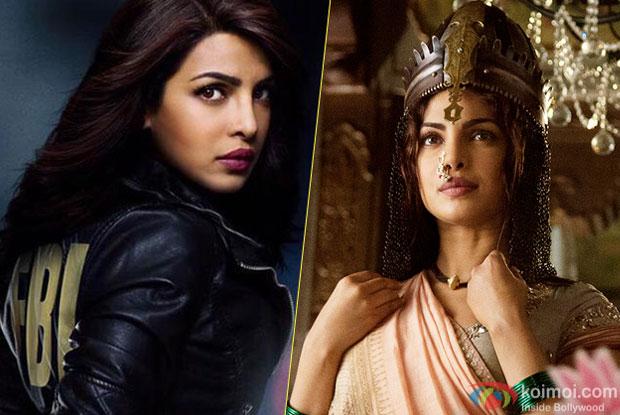 Priyanka Chopra in a still from Internation TV Show 'Quntico' and 'Bajirao Mastani' movie