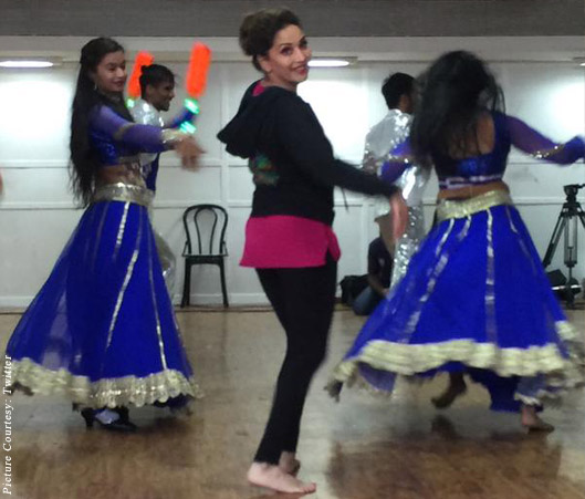Madhuri Dixit rehearsal for the concert