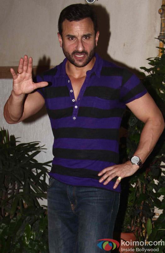 Saif Ali Khan At Birthday Bash