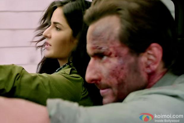 Katrina Kaif and saif Ali Khan in a still from 'Phantom'