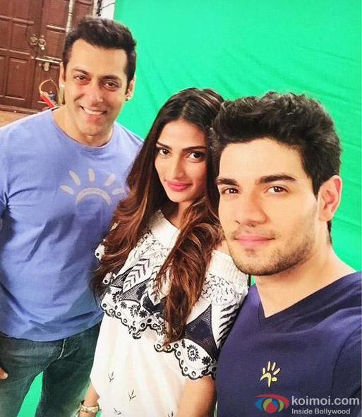 Salman Khan, Athiya Shetty and Sooraj Pancholi
