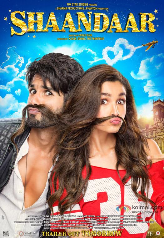 Alia Bhatt and Shahid Kapoor starrer 'Shaandaar' Movie Poster 1