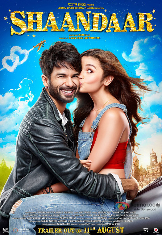 Alia Bhatt and Shahid Kapoor starrer 'Shaandaar' Movie Poster 2