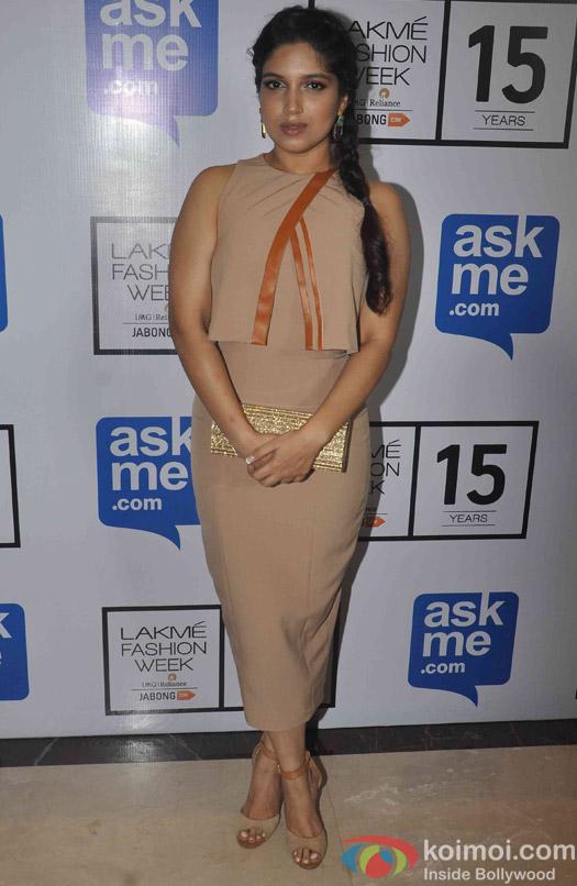 Bumi Pednekar during fashion designer Manish Malhotra's show at the Lakme Fashion Week Winter Festive 2015