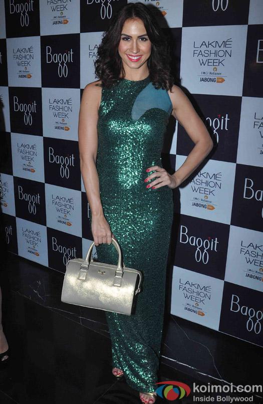 Lauren Gottlibe during fashion designer Manish Malhotra's show at the Lakme Fashion Week Winter Festive 2015