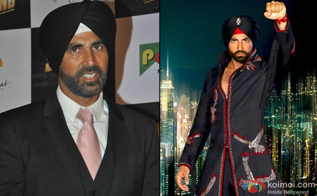 Akshay Kumar and still from movie 'Singh Is Kinng'