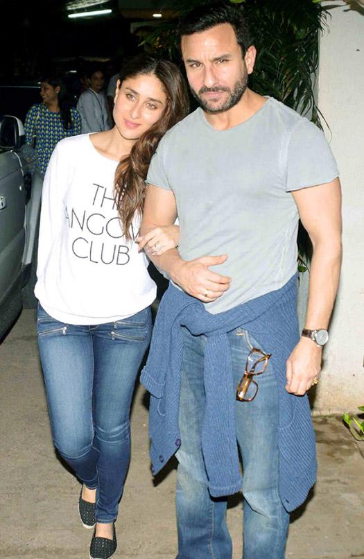 Kareena Kapoor Khan and Saif Ali Khan during the special screening of movie Phantom