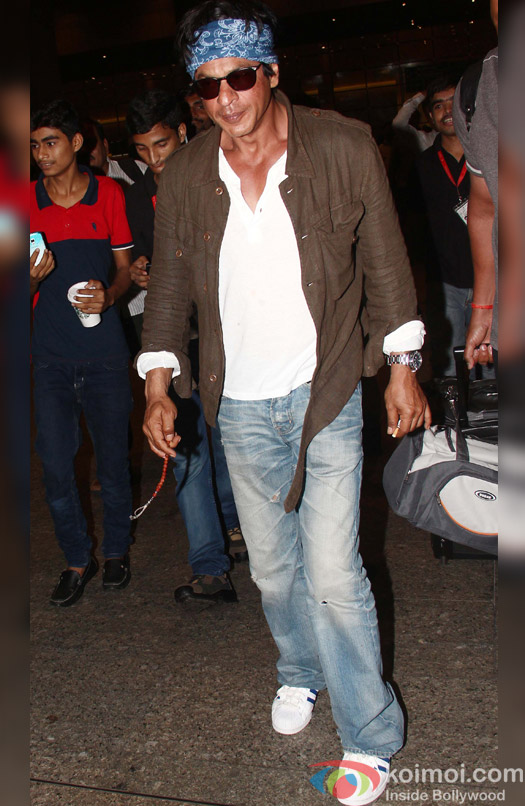 Shah Rukh Khan Return from 'Dilwale' Shoot